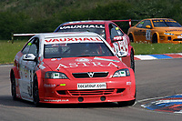 Round 3 of the 2002 British Touring Car Championship. #3 James Thompson (GBR). Vauxhall Motorsport. Vauxhall Astra Coupé.