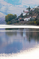 douro river and steep vineyards  douro portugal