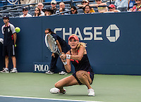 Agnieszka Radwanska<br /> Tennis - US Open  - Grand Slam -  Flushing Meadows  2013 -  New York - USA - United States of America - Tuesday 27th August 2013. <br /> &copy; AMN Images, 8 Cedar Court, Somerset Road, London, SW19 5HU<br /> Tel - +44 7843383012<br /> mfrey@advantagemedianet.com<br /> www.amnimages.photoshelter.com<br /> www.advantagemedianet.com<br /> www.tennishead.net