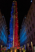 NY, NEW YORK NOVEMBER 8: People gather at the Rockefeller Plaza as they await the results of the presidential election in New York on Nov. 8, 2016.  Photo by VIEWpress/Maite H. Mateo.