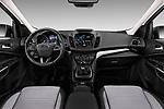 Stock photo of straight dashboard view of 2017 Ford Kuga Titanium 5 Door SUV Dashboard