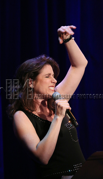 Stephanie J. Block on stage at the Vineyard Theatre 2017 Gala at the Edison Ballroom on March 14, 2017 in New York City.