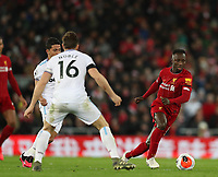 24th February 2020; Anfield, Liverpool, Merseyside, England; English Premier League Football, Liverpool versus West Ham United; Naby Keita of Liverpool takes on Mark Noble of West Ham United
