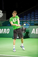 14-02-13, Tennis, Rotterdam, ABNAMROWTT, Practise, Jannick Lupescu