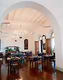 SRI LANKA, Asia, Galle, interior of a dining room at Amangalla hotel