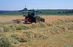 AT5CJ6 Tractor hay making Butley Suffolk England