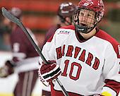 Eric Kroshus (Harvard - 10) - The Harvard University Crimson defeated the visiting Colgate University Raiders 4-2 on Saturday, November 12, 2011, at Bright Hockey Center in Cambridge, Massachusetts.