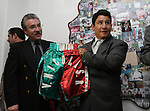 "Mexican Boxer Edgar ""Tun Tun"" Cardenas poses during a ceremony where he was accepted as a new member of the Hall of Fame in Toluca City, September 13, 2007. Photo by Javier Rodriguez"