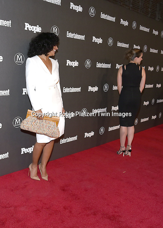 Tracee Ellis Ross and Sophia Bush attends the Entertainment Weekly &amp; PEOPLE Magazine New York Upfronts Celebration on May 16, 2016 at Cedar Lake in New York, New York, USA.<br /> <br /> photo by Robin Platzer/Twin Images<br />  <br /> phone number 212-935-0770