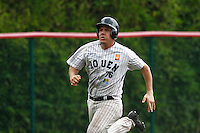 19 August 2012: Boris Marche of the Rouen Huskies runs on route to score during the 12-8 win over Senart, during game 4 of the French championship finals, in Rouen, France. The Rouen Huskies win their 9th title in 10 years.