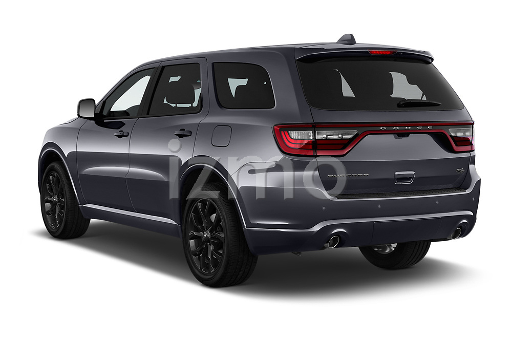 Car pictures of rear three quarter view of a 2019 Dodge Durango R/T RWD 5 Door SUV angular rear