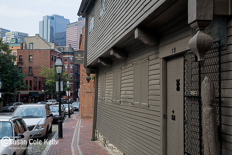 The Paul Revere house, on the Freedom Trail, Boston National Historical Park, Boston, MA