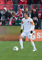 20 April 2013: Houston Dynamo defender Bobby Boswell #32 in action during an MLS game between the Houston Dynamo and Toronto FC at BMO Field in Toronto, Ontario Canada..The game ended in a 1-1 draw...