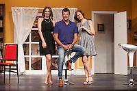 Actors Andoni Ferreno, Vanesa Romero and Esperanza Elipein pose for `El Clan de las Divorciadas´ theater play presentation in Madrid, Spain. August 19, 2015. (ALTERPHOTOS/Victor Blanco)