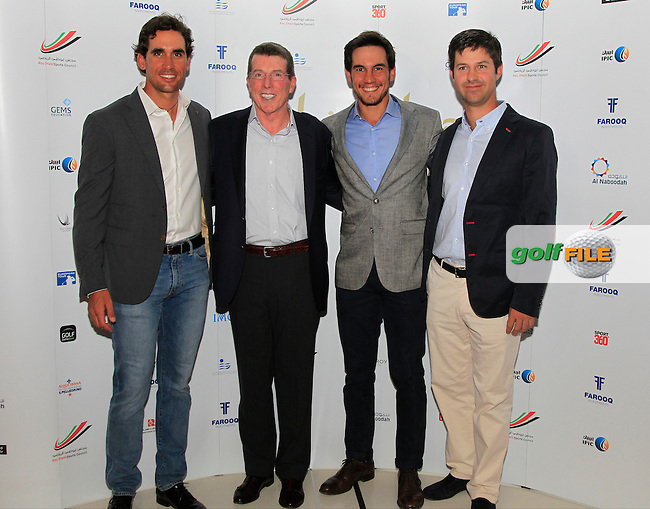 Rafa Cabrera-Bello, Matteo Manassero and Jorge Campillo during the 2015 Abu Dhabi Invitational Gala Evening held at The Viceroy Hotel, Yas Island, Abu Dhabi.: Picture Eoin Clarke, www.golffile.ie: 1/25/2015