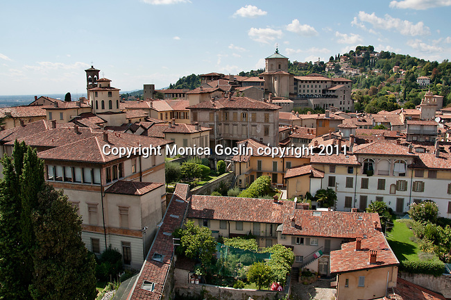 The city of Bergamo, Italy