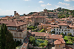 The city of Bergamo, Italy