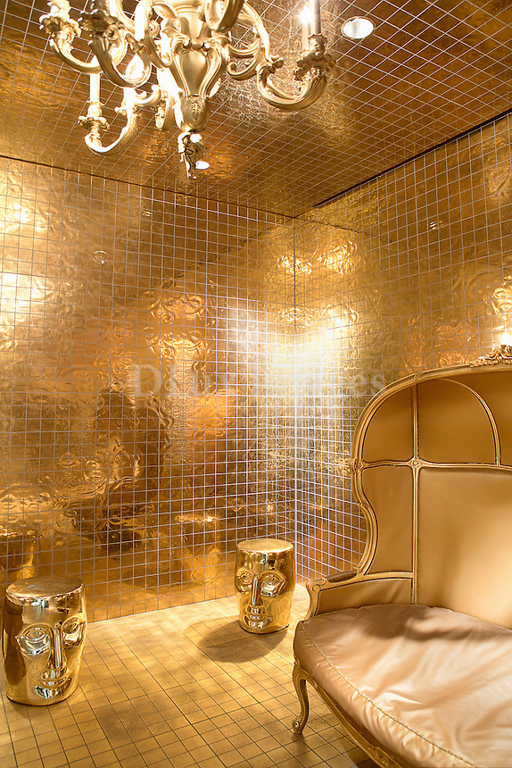 Luxury golden room