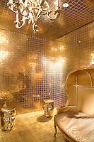 Luxury golden room