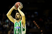 7th January 2018, San Pablo Sports Municipal Palace, Seville, Spain; Endesa League Basketball, Real Betis Energia Plus versus FC Barcelona Lassa; Franch from Betis Plus looks for a team mate to pass the ball