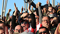 Brentford fans celebrate their second goal against Millwall during Brentford vs Millwall, Sky Bet EFL Championship Football at Griffin Park on 19th October 2019
