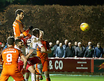 17.04.2018 Brechin City v Dundee utd:<br /> Bilel Mohsni rises to head in goal no 5