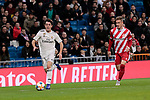 Real Madrid's Alvaro Odriozola and Girona FC's Pedro Porro during Copa del Rey match between Real Madrid and Girona FC at Santiago Bernabeu Stadium in Madrid, Spain. January 24, 2019. (ALTERPHOTOS/A. Perez Meca)
