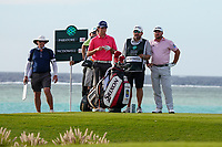 Renato Paratore (ITA) and Graeme McDowell (NIR) on the 17th during Round 3 of the Saudi International at the Royal Greens Golf and Country Club, King Abdullah Economic City, Saudi Arabia. 01/02/2020<br /> Picture: Golffile | Thos Caffrey<br /> <br /> <br /> All photo usage must carry mandatory copyright credit (© Golffile | Thos Caffrey)