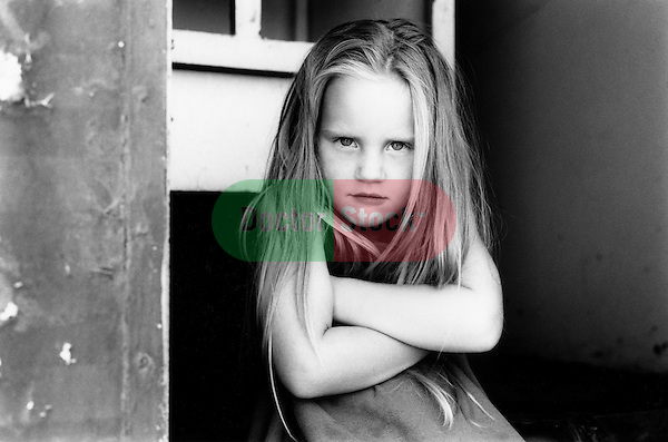 Intense young girl.