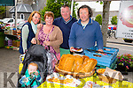 Leanne Culbert, Jack Culbert, Majella Healy, Noel Healy and Maurice Hannon of O hAnnáin gluten and wheat free bakery  at Listowel Farmers' Market on Friday
