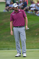 Marc Leishman (AUS) watches his putt on 3 during 4th round of the World Golf Championships - Bridgestone Invitational, at the Firestone Country Club, Akron, Ohio. 8/5/2018.<br /> Picture: Golffile | Ken Murray<br /> <br /> <br /> All photo usage must carry mandatory copyright credit (© Golffile | Ken Murray)