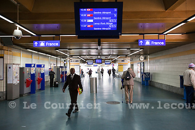 Genève, le 13.04.2010.Gare Cornavin.© Le Courrier / J.-P. Di Silvestro