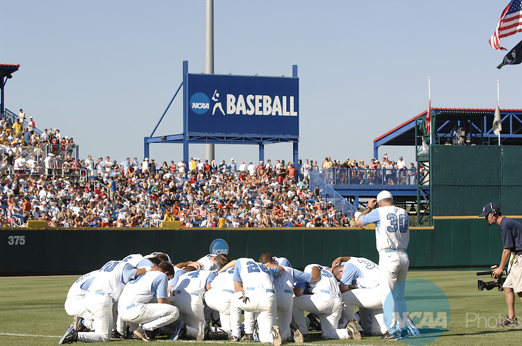 24 JUNE 2007:  Oregon State University takes on the University of North Carolina during the Division I Men's Baseball Championship at Rosenblatt Stadium in Omaha, NE.  Justin Tafoya/NCAA Photos