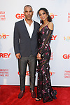 Michael Houston of Grey and Kara McCullough, Miss USA 2017 arrive at the Grey Centennial Gala at Madison Square Park in New York City on May 18, 2017.