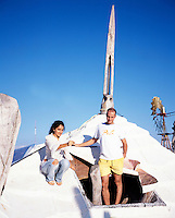 Jasai and Ernesto on top of the roof of one of the houses. Photos for Jasai´s catalogue of the houses of Memo and the surrounding area