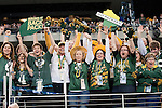Green Bay Packers fans cheer prior to Super Bowl XLV against the Pittsburgh Steelers on Sunday, February 6, 2011, in Arlingto, Texaas. The Packers won 31-25. (AP Photo/David Stluka)