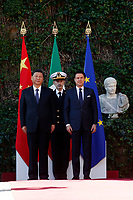 Giuseppe Conte and Xi Jinping<br /> Rome March 23rd 2019. The President of the Chinese Democratic Republic visits the Italian Premier to sign economic agreements at Villa Madama.<br /> photo di Samantha Zucchi/Insidefoto