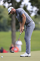 Dustin Johnson (USA) takes his putt on the 15th green during Saturday's Round 3 of the 2017 PGA Championship held at Quail Hollow Golf Club, Charlotte, North Carolina, USA. 12th August 2017.<br /> Picture: Eoin Clarke | Golffile<br /> <br /> <br /> All photos usage must carry mandatory copyright credit (&copy; Golffile | Eoin Clarke)