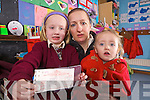 Joan Flynn with her two daughters Sarah and Anna, Sarah has a school bus ticket and under new proposals from Bus Eireann her sister Anna wont qualify for a bus ticket to travel to Duagh National School.
