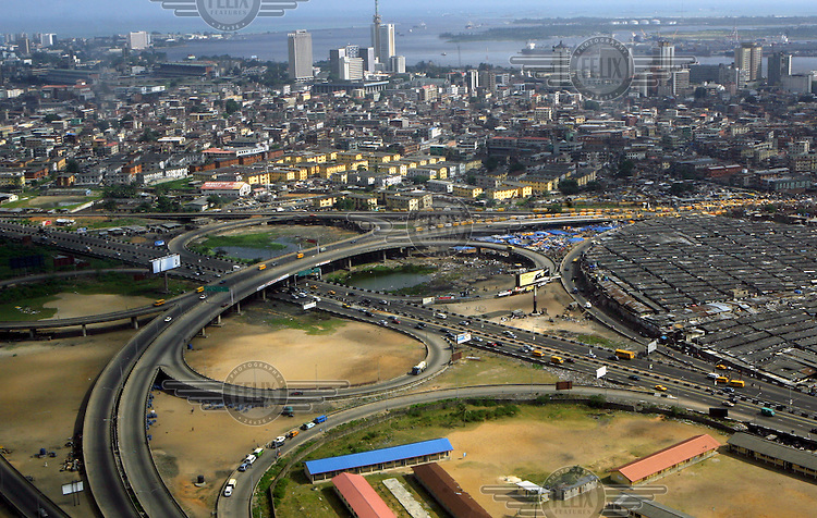 Highways leading into Lagos.