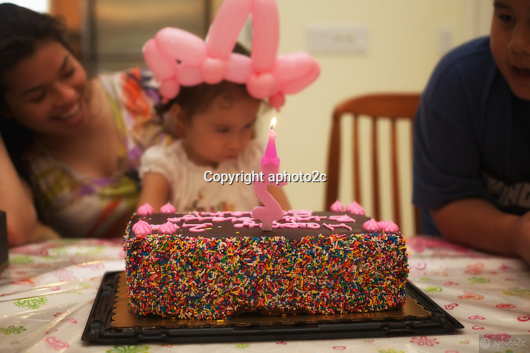 Sariah's 2 year birthday party with cousins and uncles and aunties