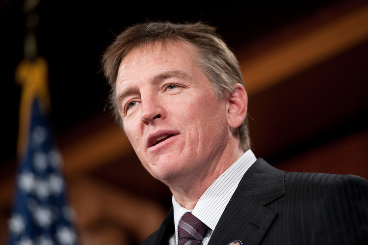 UNITED STATES - JANUARY 25: Rep. Paul Gosar, R-Ariz., speaks during the news conference on ending the practice of sitting divided by party during the president's State of the Union address on Tuesday, Jan. 25, 2011. (Photo By Bill Clark/Roll Call)