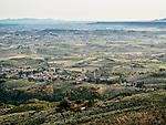 A village below the small Italian village of Mezzana, Tuscano, Italy