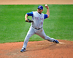 22 June 2008: Texas Rangers' relief pitcher Eddie Guardado in action against the Washington Nationals at Nationals Park in Washington, DC. The Rangers defeated the Nationals 5-3 in the final game of their 3-game inter-league series...Mandatory Photo Credit: Ed Wolfstein Photo