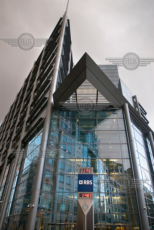 Royal Bank of Scotland (RBS) offices at 250 Bishopsgate, London, in the building which used to house ABN AMRO.