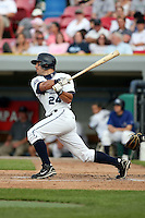 June 14th 2008:  Jordan Newton of the West Michigan Whitecaps, Class-A affiliate of the Detroit Tigers, during a game at Fifth Third Ballpark in Comstock Park, MI.  Photo by:  Mike Janes/Four Seam Images