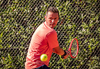 Hilversum, The Netherlands,  August 18, 2020,  Tulip Tennis Center, NKS, National Senior Championships, Men's single 35 + ,  Eric Reuijl (NED) <br /> Photo: www.tennisimages.com/Henk Koster