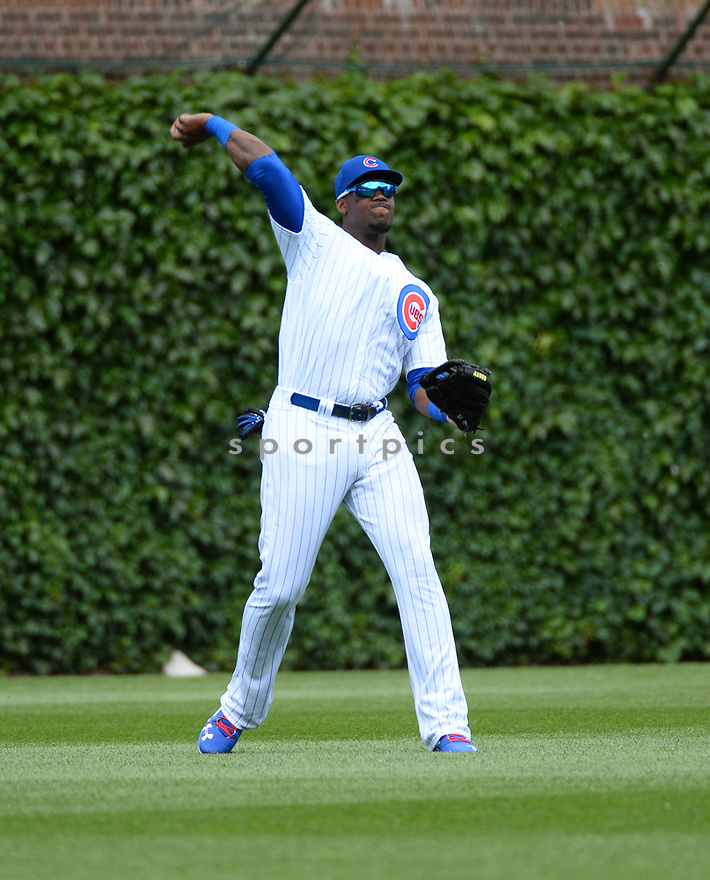 Chicago Cubs Jorge Soler (68) during a game against the Arizona Diamondbacks on June 5, 2016 at Wrigley Field in Chicago, IL. The Diamondbacks beat the Cubs 3-2.