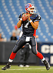 28 August 2008:  Buffalo Bills' quarterback J.P. Losman warms up prior to a game against the Detroit Lions at Ralph Wilson Stadium in Orchard Park, NY. The Lions defeated the Bills 14-6 in their fourth and final pre-season game...Mandatory Photo Credit: Ed Wolfstein Photo