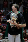 Caja Laboral Baskonia's Tiago Splitter celebrates the victory in the ACB Finals. June 15,2010. (ALTERPHOTOS/Acero)